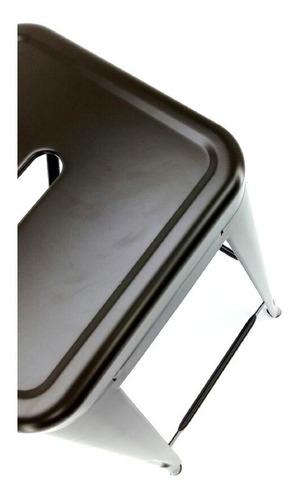 banco alto banqueta design metal portland 76 cm - bronze