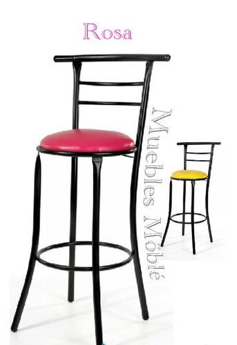 banco alto mod. chabely para restaurante cafetería lounge