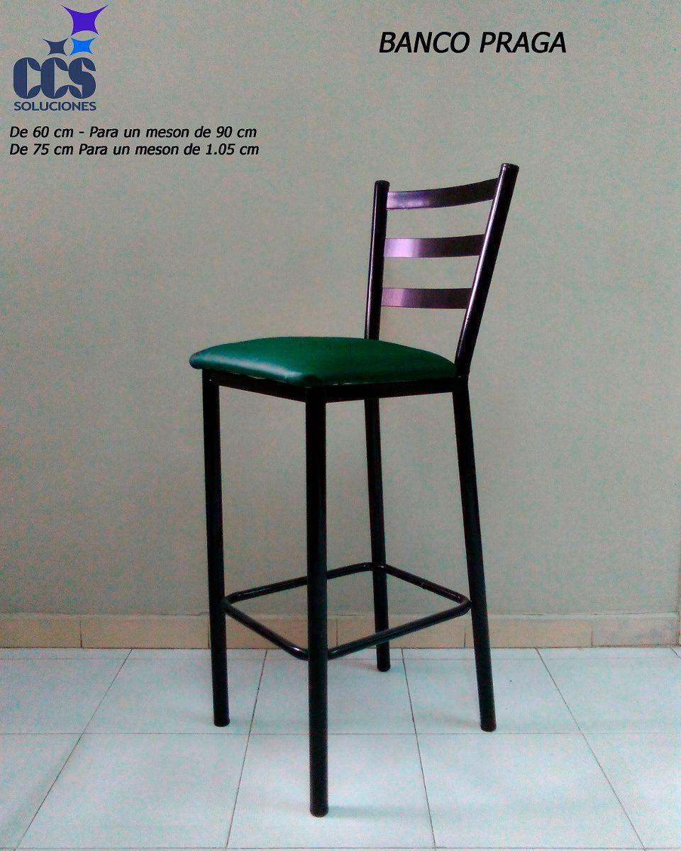 Banco alto silla con asiento semicuero para mesa alta - Mueble banco asiento ...