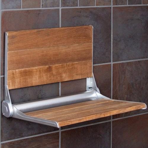 Banco asiento plegable con respaldo para ba o ducha - Banco de bano ...