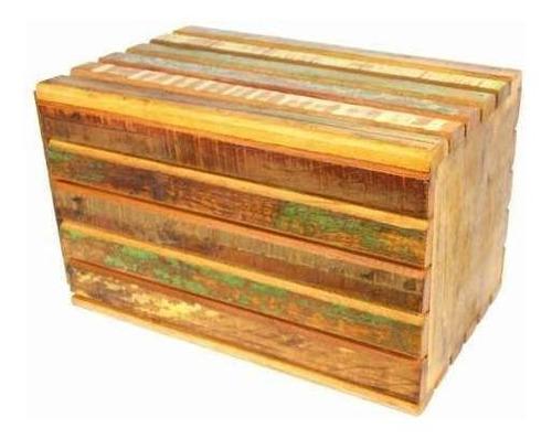 banco banqueta 0,27 x0,27x 45 em madeira de demolição ripado