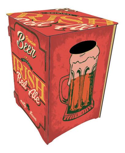 banco banqueta mesa baja silla puff pouf cerveza roja