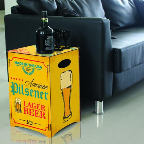 banco banqueta mesa baja silla puff pouf cerveza rubia