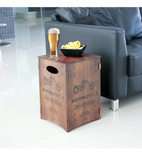 banco banqueta mesa baja silla puff pouf moto 43x29