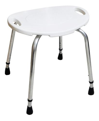 banco banqueta oval para banho em alumínio dellamed