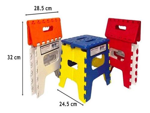 banco banquito plegable plástico camping hogar