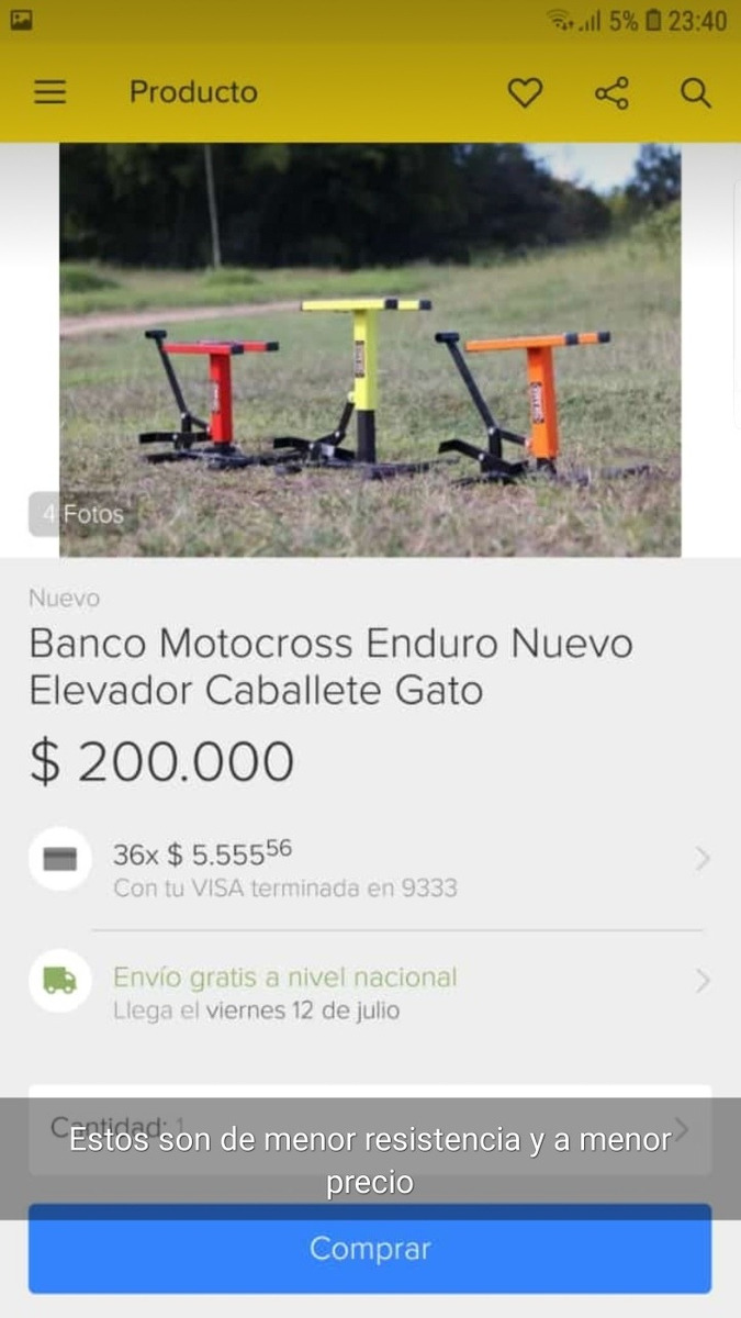 JOPA Acre motorstand MX Lift Stand Schwarz MOTOCROSS ENDURO MX Cross