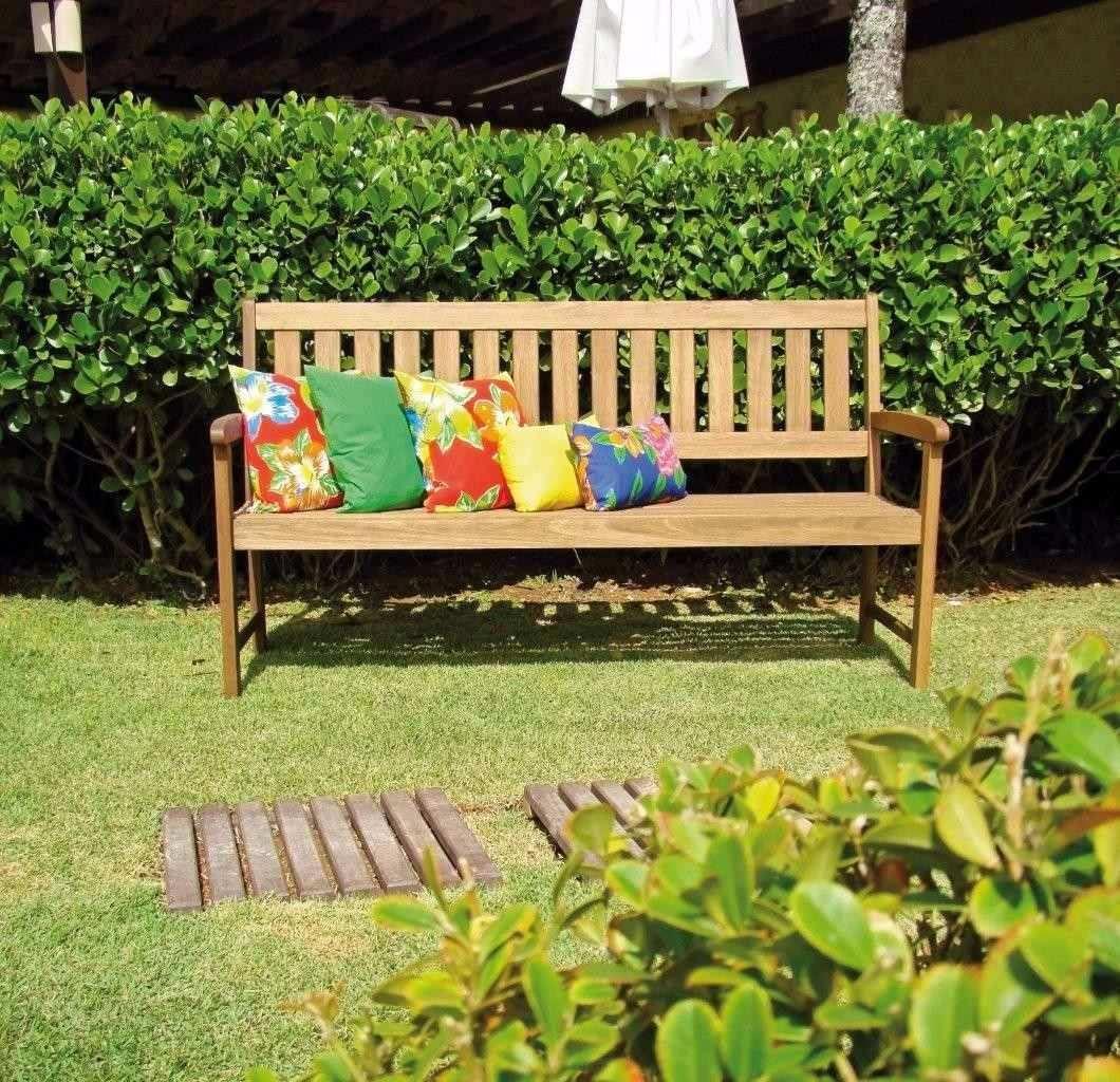 Banco butzke madeira eucalipto area externa jardim 2 00 for Jardim na piscina