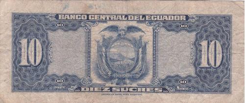 banco central! 10 sucres 6 octubre 1959 serie io - punto