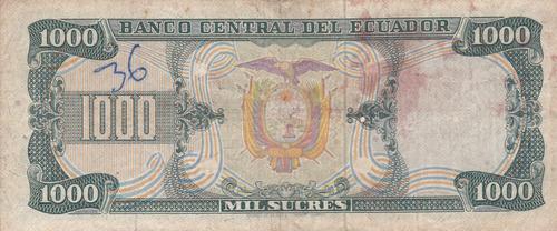banco central! 1000 sucres 9 octubre 1978 serie de