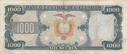 banco central! 1000 sucres 9 octubre 1978 serie dp