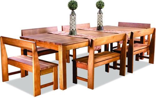 banco con respaldo 2 cuerpos para exterior madera eucalipto