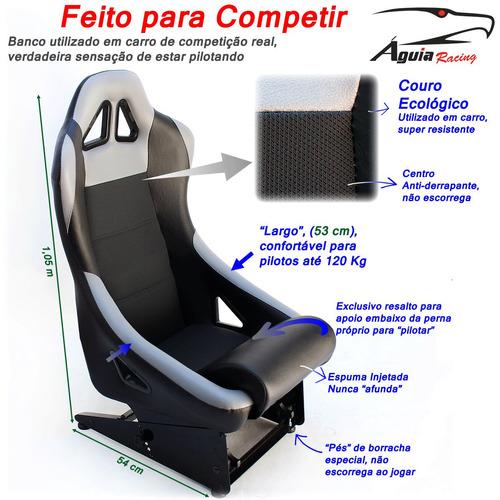 banco concha águia para suporte volante / cockpit simulador