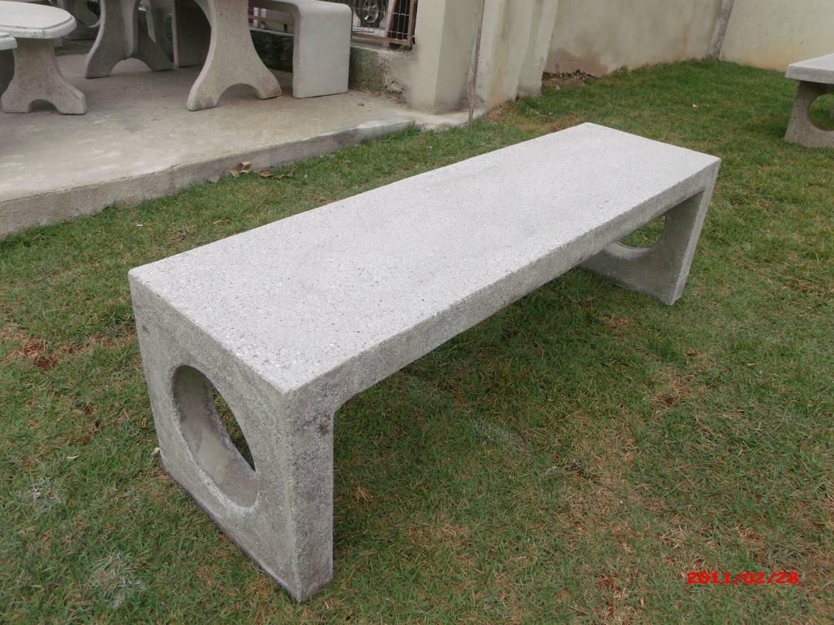 Banco de concreto monobloco r 310 00 em mercado livre - Bancos de cemento ...
