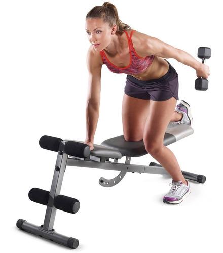 banco de ejercicios golds gym pesas abdominales xr 5.9 msi