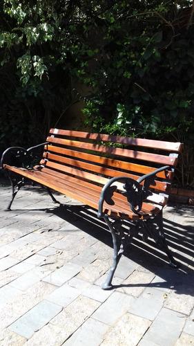 banco de jardim café 10 reguas em madeira de lei