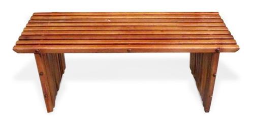 banco de jardim em madeira  sem encosto,110cmx37cmx45