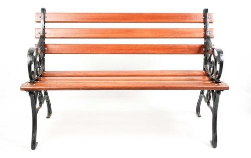 banco de jardim madeira e ferro - francês 115cm namoradeira