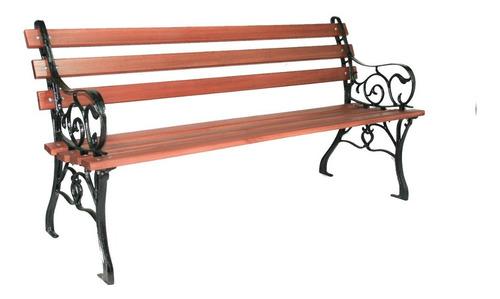 banco de jardim madeira pé de ferro francês grande promoçâo