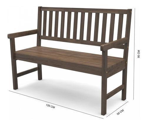 banco de jardim rústico de madeira 2 lugares com gewt