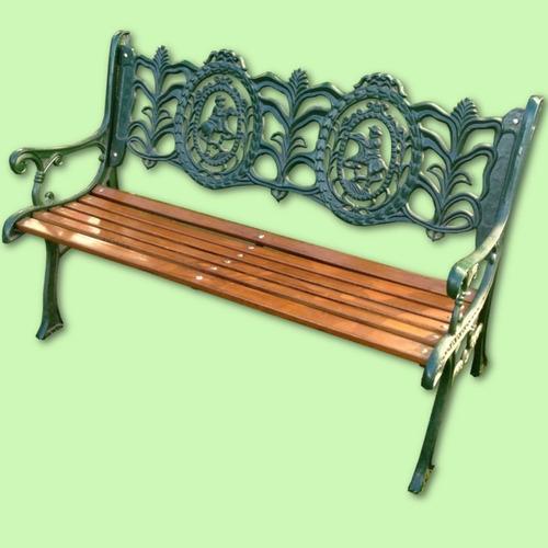banco de jardín artístico 1.20m filfer hierro y madera