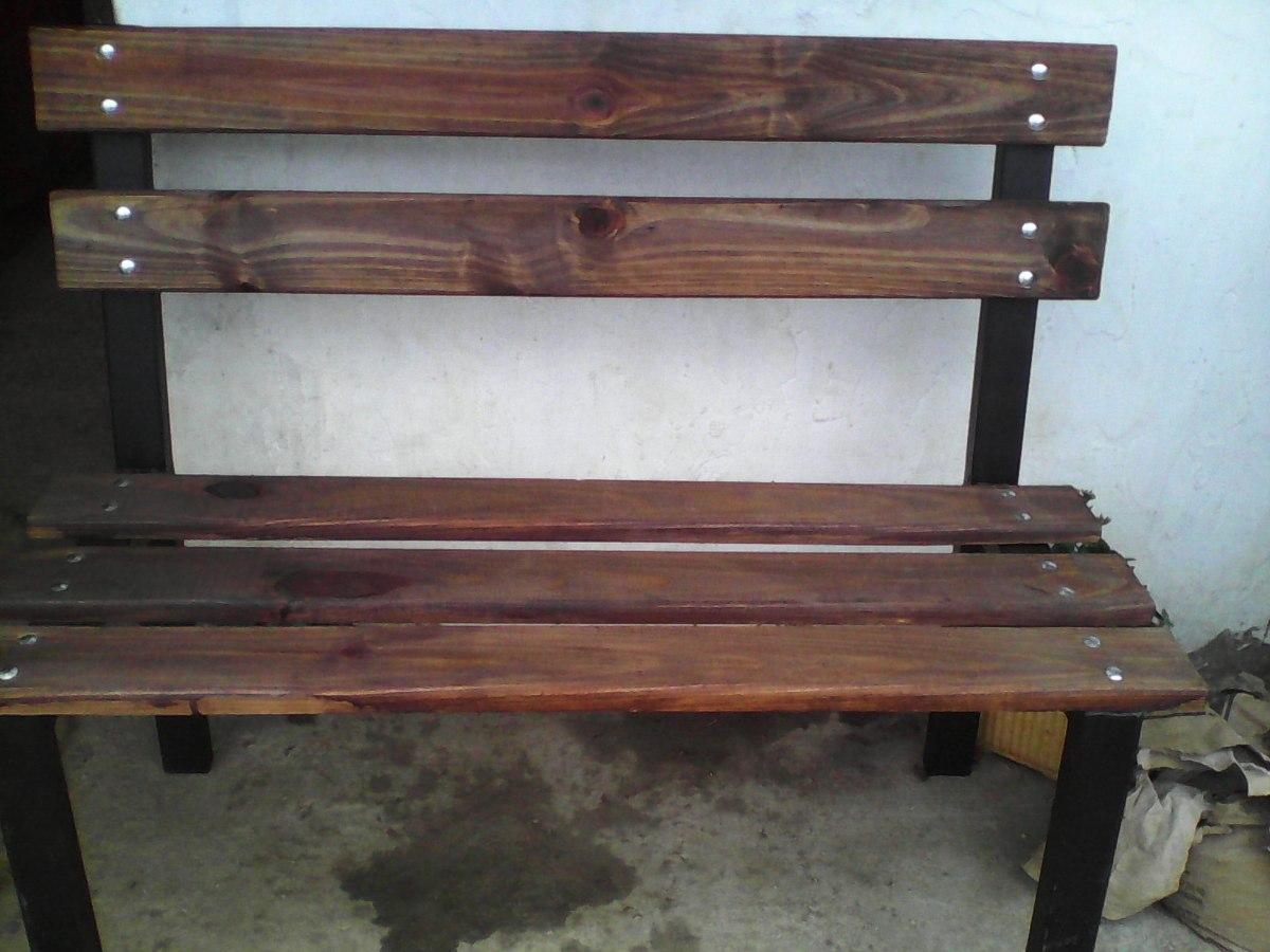 Banco de jardin en hierro y madera excelente calidad for Banco madera jardin