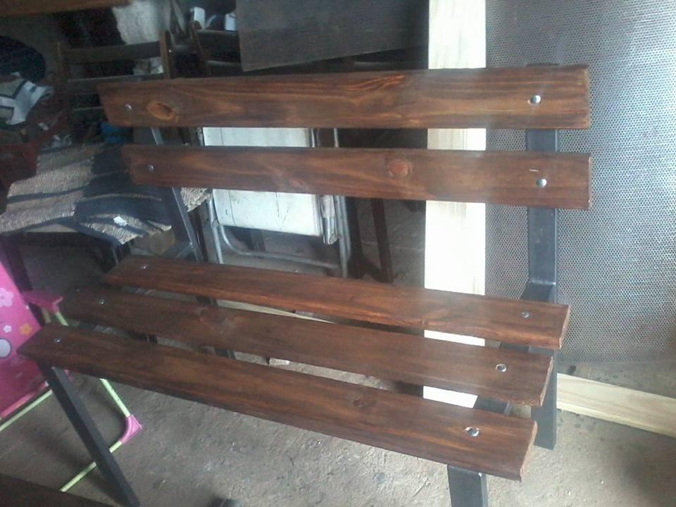 Banco de jardin en hierro y madera excelente calidad for Bancos de madera para jardin