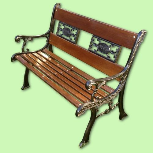 banco de jardín labrado 1.00m filfer hierro y madera
