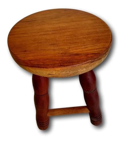banco de madeira baixinho banqueta tamborete ref, 0157