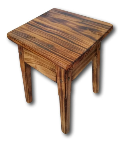 banco de madeira baixinho banqueta tamborete ref. 0669