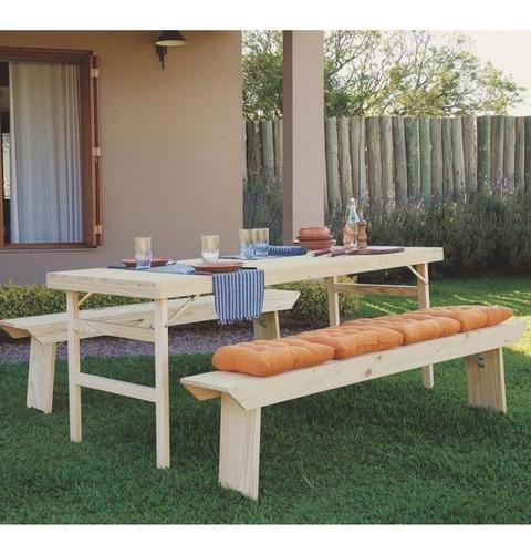 banco de madeira dobrável 200cm naturalle tramontina ig