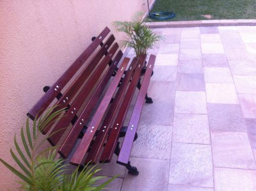 banco de madeira para jardim novo