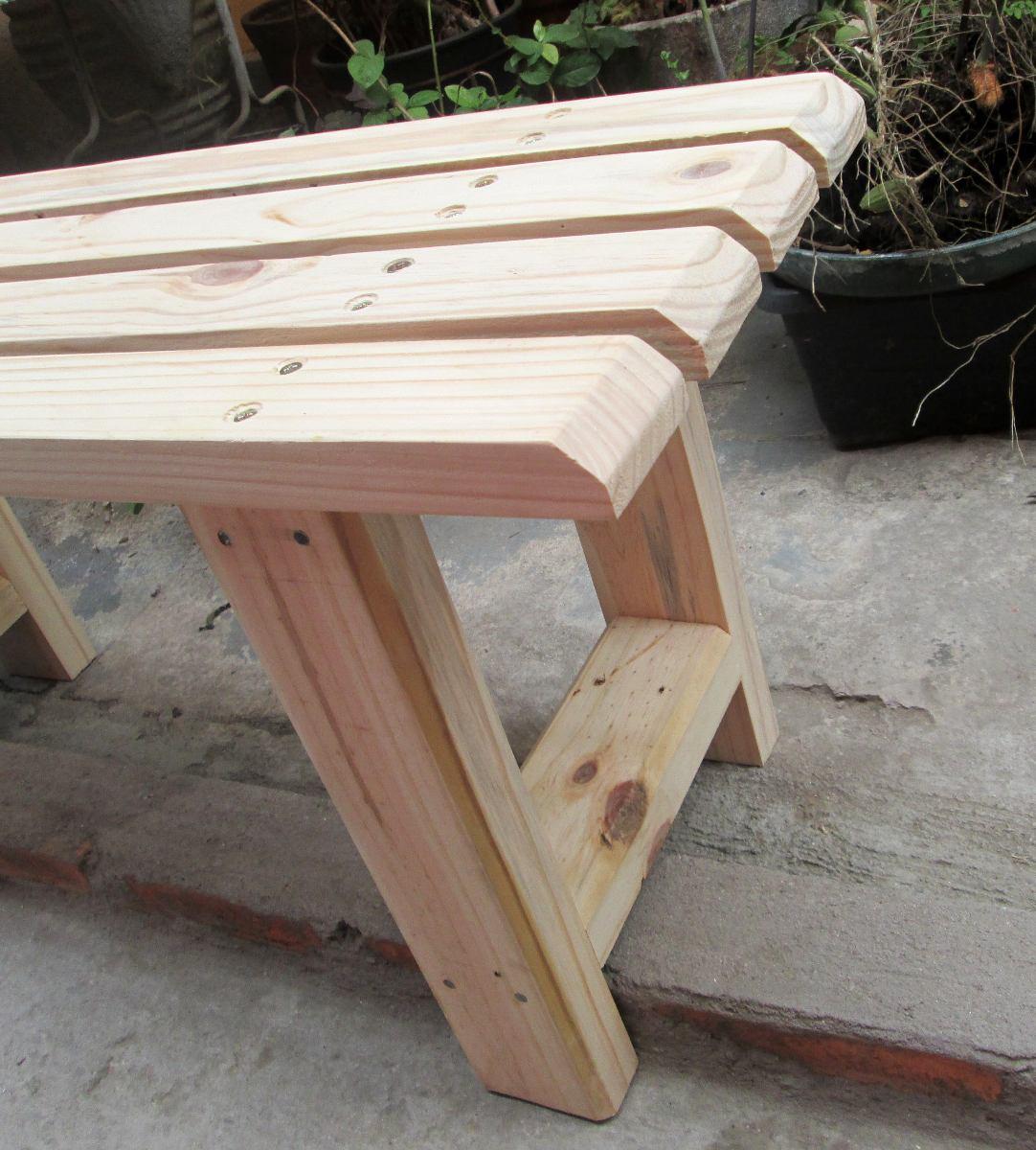 Banco De Madeira Reciclada Pallet Pinus R$ 98 00 em Mercado Livre #826D49 1082x1200