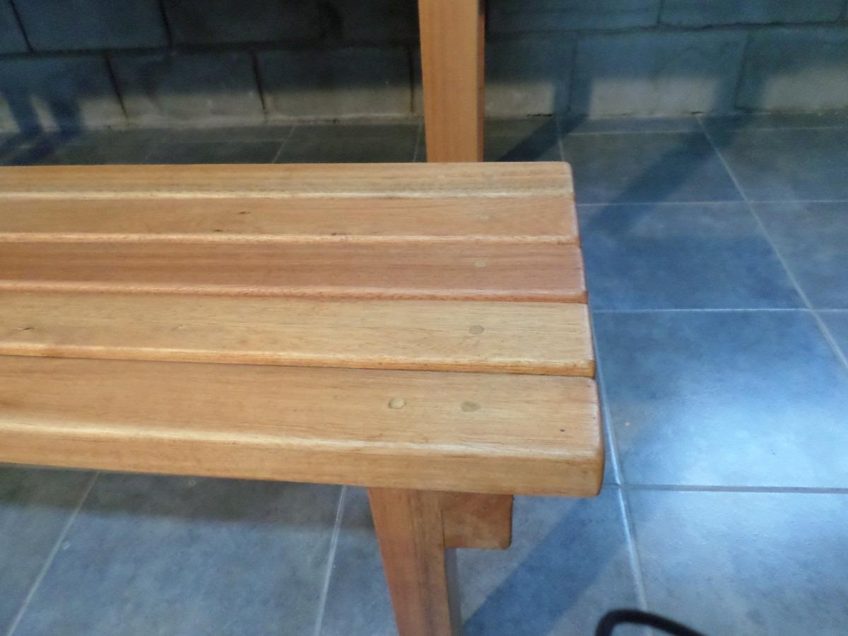 Banco de madera banqueta individual estilo deck con for Banquitas de madera para jardin