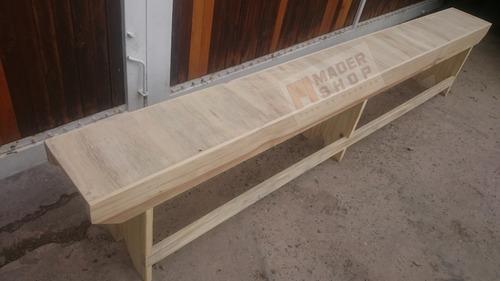 banco de madera de pino en largo de 2.40 metros. - mader shop