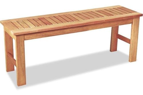 banco de madera eucalipto para patio exterior o jardin 1,5 m - ecomadera - iguazu max +