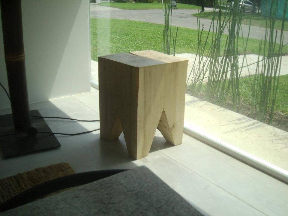 Banco De Madera Maciza Diseño Decoracion Muebles Woody Rocco ...