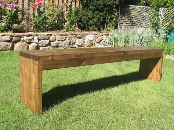 Banco de madera para jardin exterior bs en for Banco madera jardin