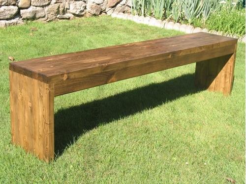 Banco de madera para jardin exterior bs en - Banco madera jardin ...