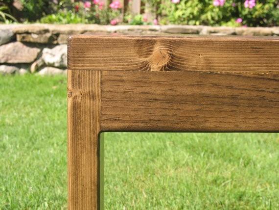 Banco para jardin exterior banco jardn madera tratada con - Banco exterior jardin ...