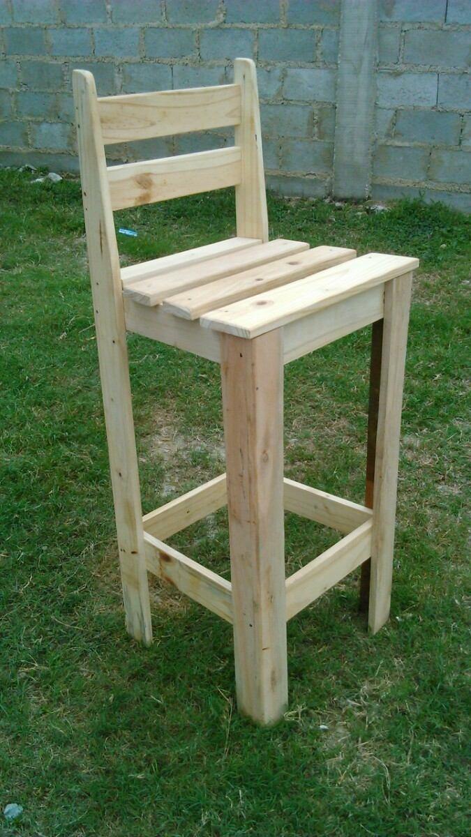 Barra de madera para bar madera pintados para bar o barra for Bancos de madera para barra