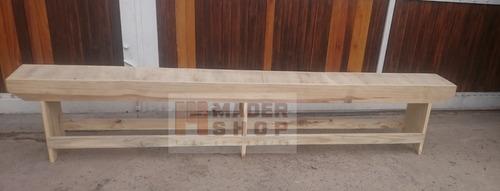 banco de madera pino en largo de 3.00 metros. - mader shop