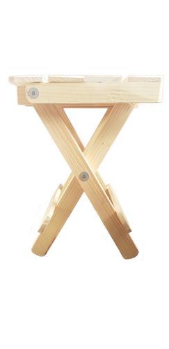 banco de madera plegable