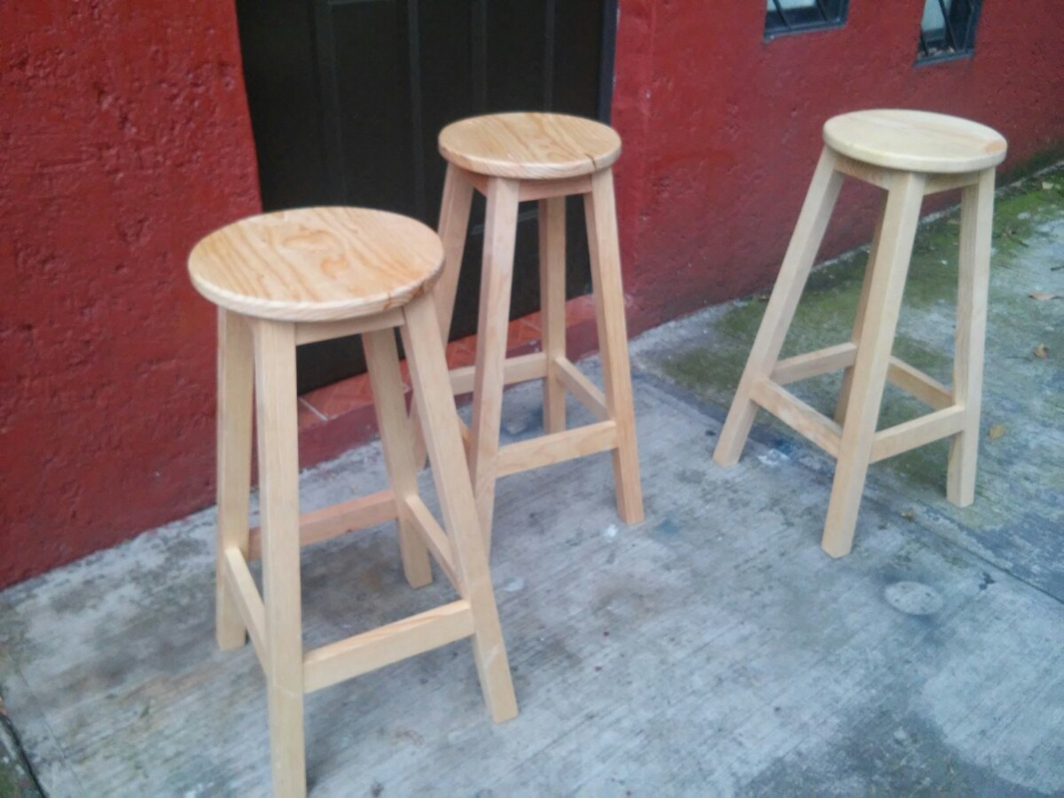 Banco de madera restirador arquitecto artista o bar for Bancos de bar de madera
