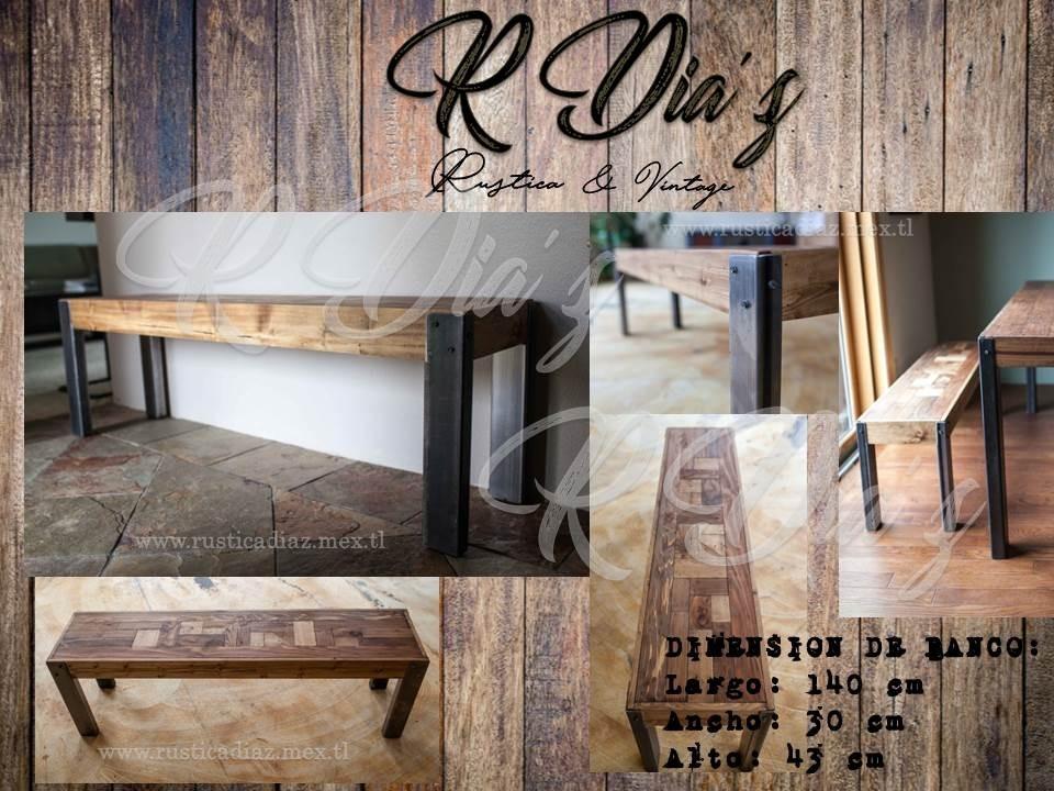Banco de madera rustico vintage 2 en mercado libre - Banco de madera rustico ...