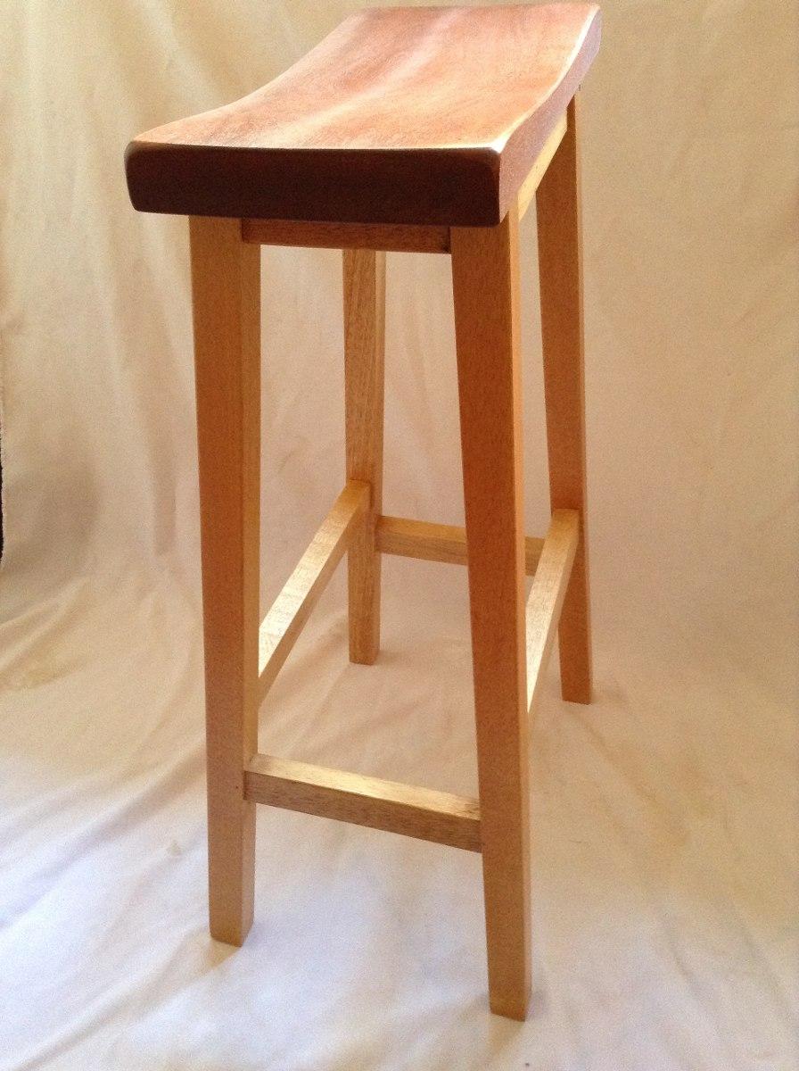 Banco de madera s lida para barra konetl env o gratis for Fabricacion de bares de madera