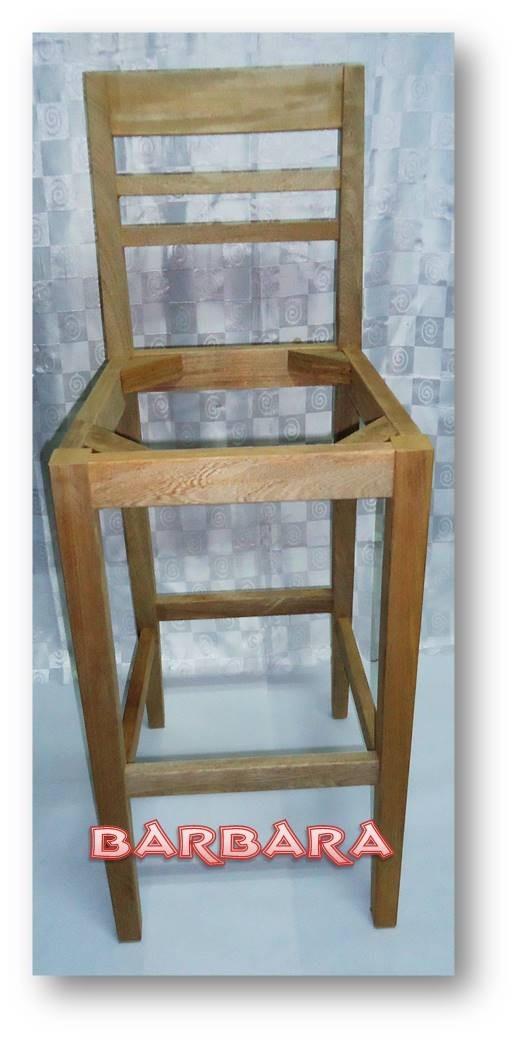 Banco de madera taburete para bar y restaurant bs 38 for Bancos de bar de madera
