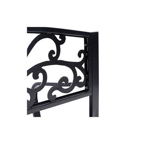banco de marco de acero patio silla de ocio al aire libre