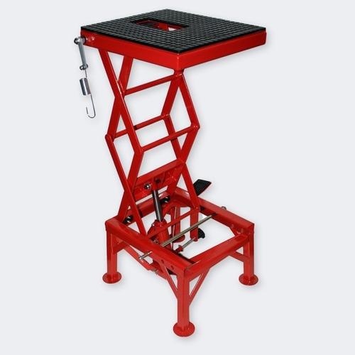 banco de moto mx gato hidraulico tijera mantenimiento taller