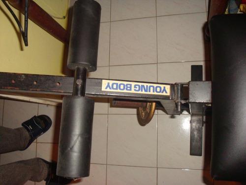 banco de pesas para pierna y abdominales, pecho